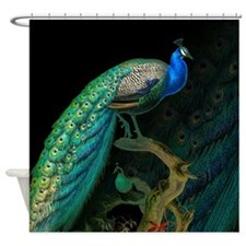 Vintage Peacock Shower Curtain