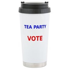 Tea Party Vote Travel Mug