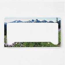 Mount Rainier Wildflowers License Plate Holder