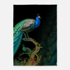 Vintage Peacock 5'x7'Area Rug