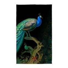 Vintage Peacock 3'x5' Area Rug