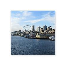 """Seattle Coastline Square Sticker 3"""" x 3"""""""