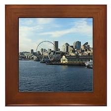 Seattle Coastline Framed Tile