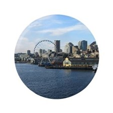 "Seattle Coastline 3.5"" Button"