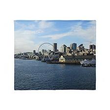 Seattle Coastline Throw Blanket