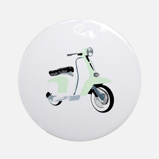 Mod Scooter Ornament (Round)