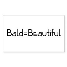 Bald = Beautiful_CA Rectangle Decal