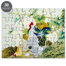 Nature & Rooster Motif Puzzle