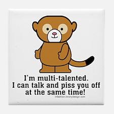 Multi-Talented Monkey Tile Coaster
