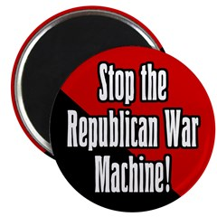 Stop GOP War Machine Magnet