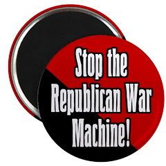 Stop GOP War Machine Magnet