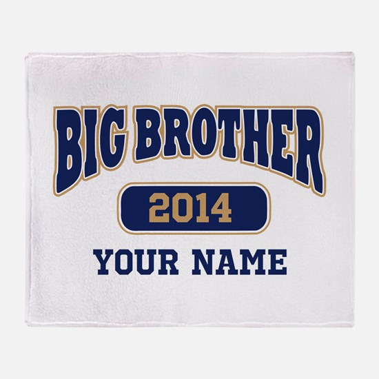 Personalized Big Brother Throw Blanket