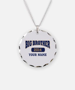 Personalized Big Brother Necklace Circle Charm