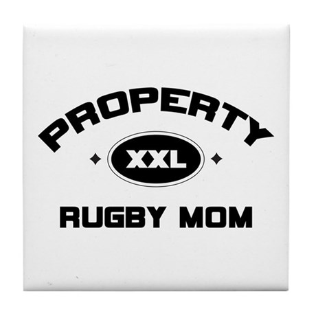 Rugby Mom Tile Coaster