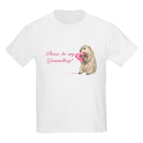 Be Mine, Groundhog Kids Light T-Shirt