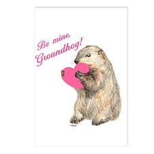 Be Mine, Groundhog Postcards (Package of 8)