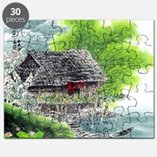 Oriental Hut by the Riverside Puzzle