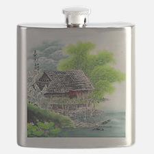 Oriental Hut by the Riverside Flask