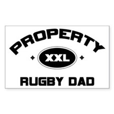 Property of Rugby Dad Rectangle Decal