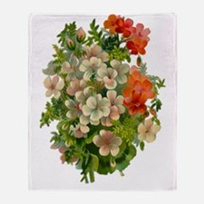 Beautiful Floral Motif Throw Blanket