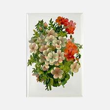 Beautiful Floral Motif Rectangle Magnet