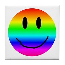 A Smiling Tile Coaster