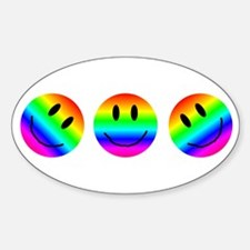 A Smiling Oval Decal