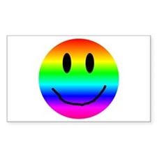 A Smiling Rectangle Decal