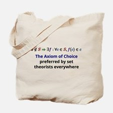 The Axiom of Choice Tote Bag