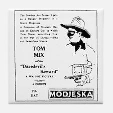 Tom Mix Daredevil's Reward Tile Coaster