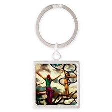 Reach for the sky Square Keychain