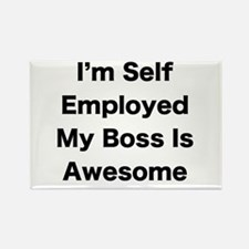 Im Self Employed My Boss Is Awesome LRG Magnets