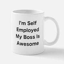 Im Self Employed My Boss Is Awesome LRG Mugs