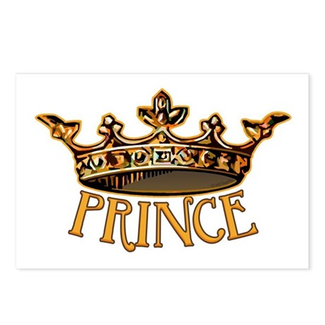 PRINCE Crown Postcards (Package of 8)