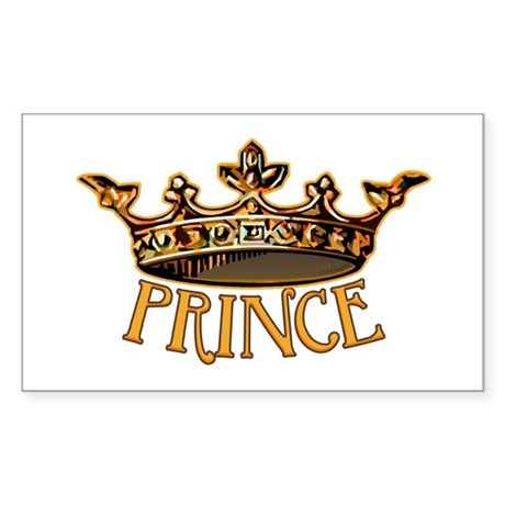 PRINCE Crown Rectangle Sticker