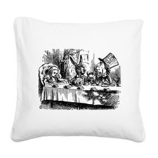 Alice In Wonderland Tea Party Square Canvas Pillow