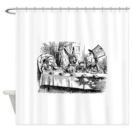 Alice In Wonderland Tea Party Shower Curtain