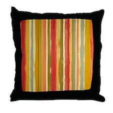 Earthy Rust Stripes Throw Pillow