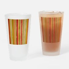 Earthy Rust Stripes Drinking Glass