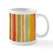 Earthy Rust Stripes Mugs