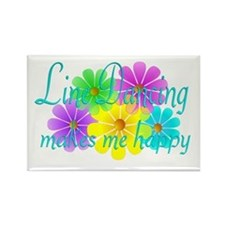 Line Dancing Happiness Rectangle Magnet