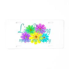 Line Dancing Happiness Aluminum License Plate