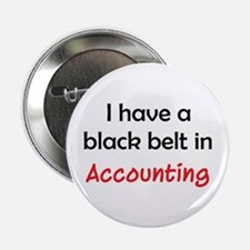 "accounting black belt 2.25"" Button"