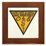 War Dept OSS Framed Tile