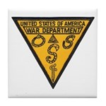 War Dept OSS Tile Coaster