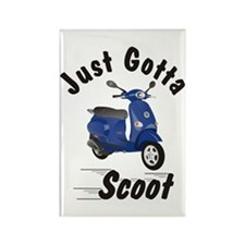 Just Gotta Scoot Vespa Et Blu Rectangle Magnet