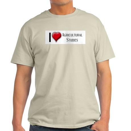 I Love (Heart) Agricultural S Ash Grey T-Shirt