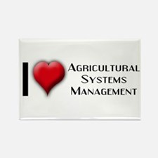 I Love (Heart) Agricultural S Rectangle Magnet