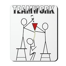 Teamwork BeerBong Mousepad