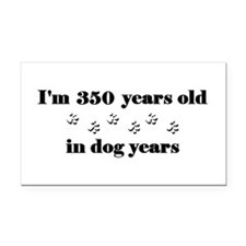 50 dog years 3-2 Rectangle Car Magnet